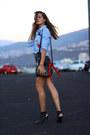 Shein-shirt-mango-skirt-mango-heels