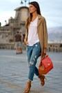 Sheinside-coat-mango-jeans-dolce-gabbana-bag-zara-t-shirt-choies-heels