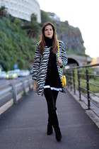 Sheinside coat - Zara boots - Sheinside dress - imperio clandestino bag