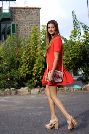 Sheinside dress - imperio clandestino bag - IT shoes heels