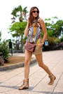 Guess-bag-bershka-shorts-fendi-sunglasses-sheinside-blouse
