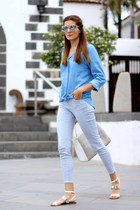 Stradivarius jeans - Christian Siriano bag - christian dior sunglasses