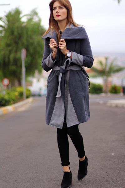 zaful coat - Zara boots - Zara leggings - Mango bag - christian paul watch