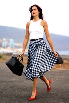 Sheinside skirt - Guess bag - Bershka heels - Choies top