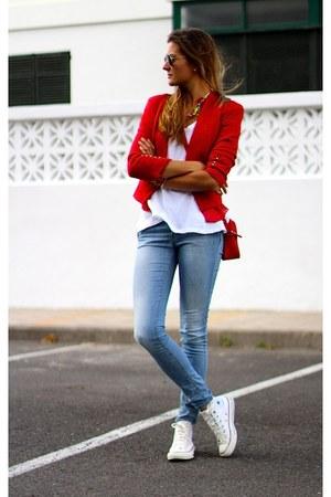 Mango jacket - Zara shirt - Converse sneakers