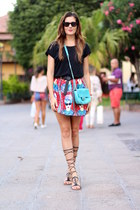 romwe skirt - Mango sandals