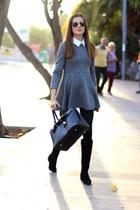 Zara boots - Sheinside dress - Ray Ban sunglasses