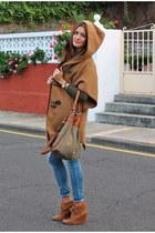 burnt orange Zara boots - olive green Mango sweater - olive green Zara bag