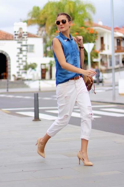 Mango jeans - Lefties shirt - itshoes bag - Fendi sunglasses