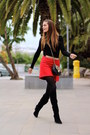 Zara-boots-zara-sweater-zara-skirt