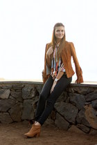 shirt blouse - Bershka jeans - Zara jacket