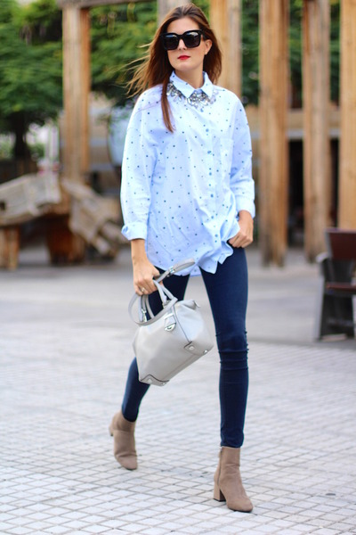 Zara boots - Zara shirt - Michael Kors bag - Celine sunglasses - Zara panties