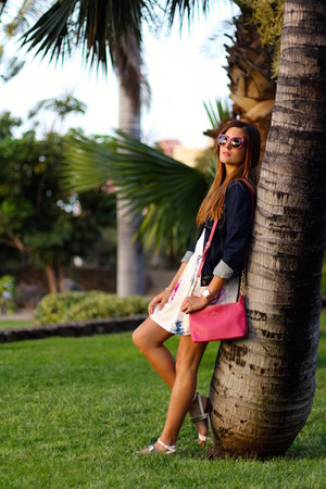 Sheinside dress - Chanel sunglasses