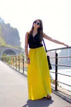 Zara skirt - zeroUV sunglasses - Sheinside top