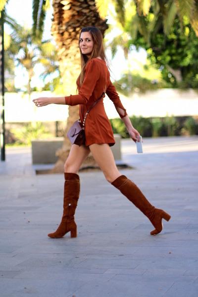 inlovewithfashion jumper - Zara boots - Guess bag
