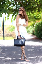 shein dress - Guess bag - Chanel sunglasses - Mango sandals