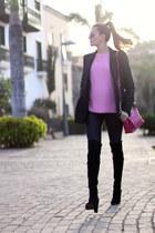 Choies boots - Zara sweater - Mango blazer - imperio clandestino bag