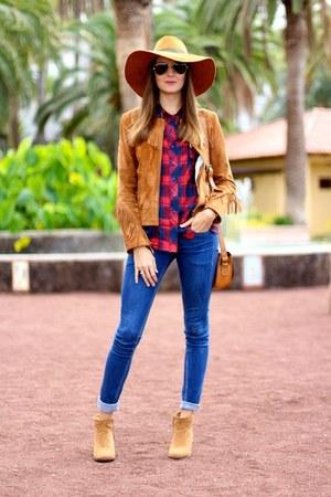 Zara hat - Zara jacket - Choies shirt