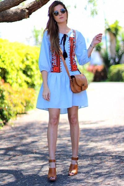 H&M dress - rayban sunglasses - Stradivarius heels