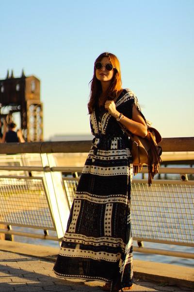 Sheinside dress - itshoes bag - The Fab Glasses sunglasses - Panama Jack sandals