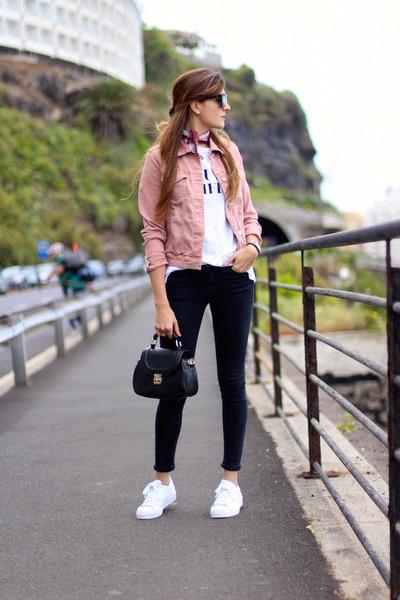 Mango jacket - Zara jeans - christian dior sunglasses - Adidas sneakers