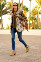 Zara jeans - shein sweater - IT shoes bag - Choies vest