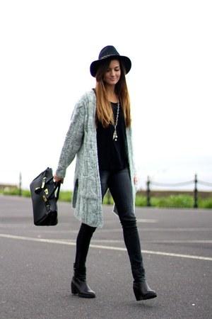 Zara hat - Zara boots - nowIStyle cardigan
