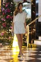 Zara necklace - TFNC LONDON dress - cloe bag - cloe hair accessory