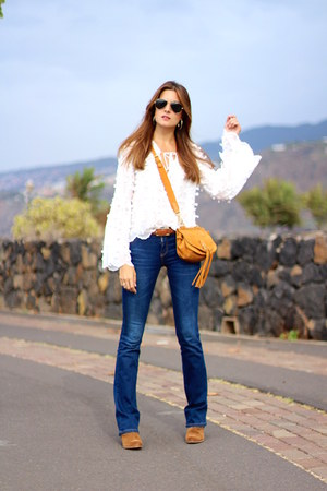 Stradivarius jeans - Chloe bag - Sheinside blouse
