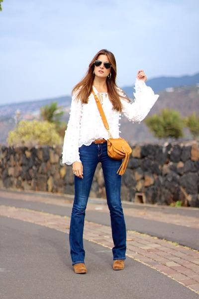 Sheinside blouse - Stradivarius jeans - Chloe bag