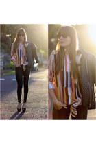 zaful shirt - Bershka jeans