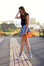 Romwe-skirt-stradivarius-blouse-hammerhoj-flats