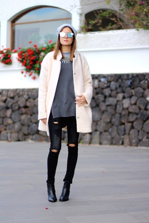 c&a coat - Zara jeans - Michael Kors bag - christian dior sunglasses