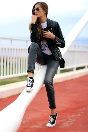Sheinsidecom jacket - Converse sneakers - Mono&me t-shirt