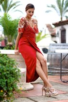 virgos lounge dress - suiteblanco heels