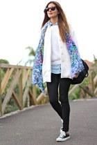 Zara coat - Bershka jeans - Primark bag - Converse sneakers