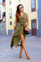 Sheinside dress - Guess sunglasses - Choies heels