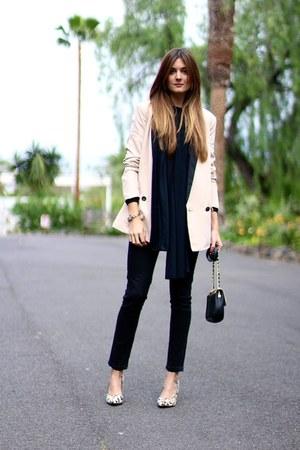 PERSUNMALL heels - Bershka jeans - Mango jacket - natura sweatshirt