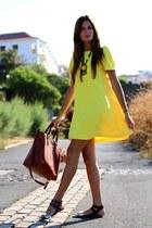 Sheinside dress - Massimo Dutti bag