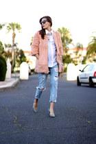 Sheinside coat - Zara jeans - suchn shirt - imperio clandestino bag