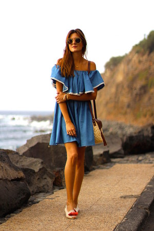 Sheinside dress - the dab glasses sunglasses - casa de vera flats
