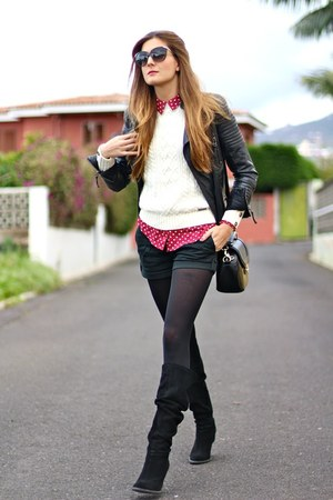 Zara boots - Zara jacket - PERSUNMALL sweater