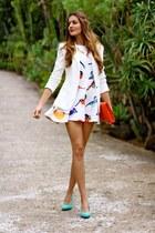 Zara jacket - Sheinside dress - Zara heels - H&M accessories