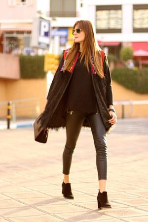 Be Bohemian vest - Zara boots - Prada bag - Stradivarius panties