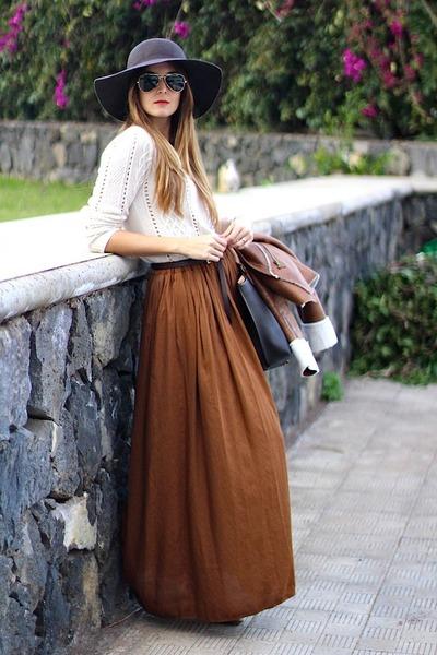 Zara skirt - Bershka boots - suiteblanco hat - El potro bag
