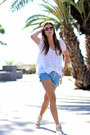 Pepa-loves-shorts-sheinside-blouse-barons-papillom-sneakers