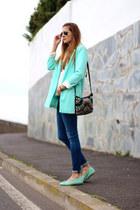 Sheinside blazer - Mango bag - okaaspain flats