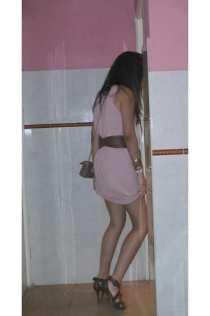 Zara dress - pull&bear belt - Zara shoes - Purificacion Garcia purse