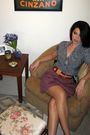 Blue-banana-republic-blouse-red-vintage-belt-purple-american-apparel-skirt-