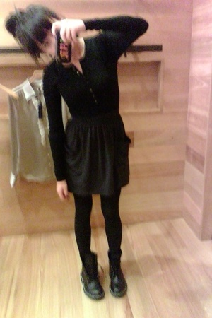 Martin&Osa shirt - American Apparel skirt - f21 boots